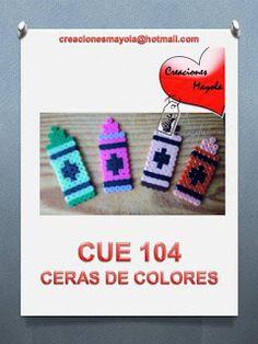 Creaciones Mayola: CERAS DE COLORES, GRAYOLA, HAMA BEAD.