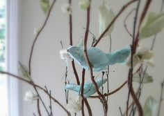 how to make paper birds - newspaper, masking tape, tissue or rice paper and glue