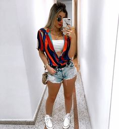 Pin by Vanessacramirez on Ropa de moda mujer in 2020 Short Outfits, Trendy Outfits, Summer Outfits, Cute Outfits, Fashion Outfits, Fashion Clothes, Fashion Mode, Fashion Week, Fashion Trends