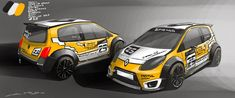 Twingo RS - having fun with the future paintjob :) Automobile, Renault Sport, Gt Turbo, Design Cars, Rally Car, Car Wrap, Car Decals, Cars And Motorcycles, Race Cars
