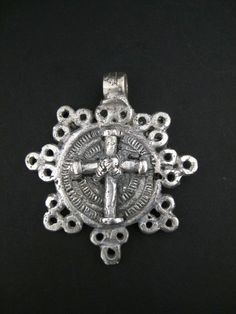 Ethiopian Cast Metal Cross Pendant