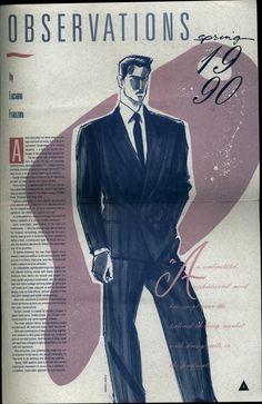 Menwear Illustration (Pierre Cardin Menswear) by Warren K. Bradley