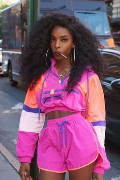 Black Girl Fashion Discover Making A Statement Lounge Set - Magenta/Multi Making A Statement Lounge Set - Magenta/Multi Fashion Nova Fashion 90s, Tokyo Street Fashion, Black Girl Fashion, Look Fashion, Fashion Outfits, Fashion Trends, 80s Womens Fashion, Funky Fashion, Party Fashion