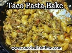 Taco Pasta Dinner - Easy, Cheap and Good! - MyLitter - One Deal At A Time