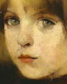 early Helene Schjerfbeck, Finnish artist, this is a detail of the painting.