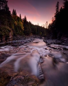 Photo @ladzinski / Twilight at #SacredDancingCascade on McDonald Creek in #GlacierNationalPark Montana. This river is decorated with cascades and water falls for miles before eventually pouring into Lake McDonald the largest lake in the park. Shot on assignment for @natgeo by natgeo