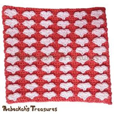 Sweetheart Kisses Coaster | Free Crochet Pattern - Rebeckah's Treasures