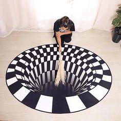 3d Design, Floor Design, Cool Illusions, Optical Illusions, Photos Originales, Handheld Vacuum Cleaner, New Carpet, Room Carpet, Animals For Kids