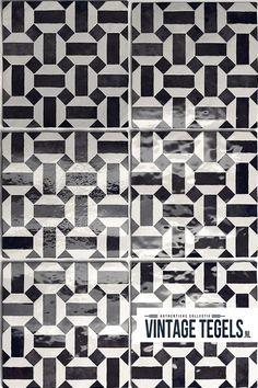 BLACK AND WHITE - Deze zwart witte wandtegel heeft een handvorm afwerking! In combinatie met de White 13,2x13,2 uit deze serie krijgt u een prachtige wand in de badkamer, keuken of wc!  #black #white #lunas #vintage #klassiek #decor #bw #badkamer #keuken #wc #inspiratie #ideeën #vintagetegels Tiles, Artisan, Bathroom, Kitchen, Vintage, Decor, Wall Tiles, Bath Room, Cooking