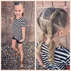 I did t get a picture till after school was put but this was our hairstyle from yesterday! We needed something that would hold up for her busy Tuesday ♀️ and it held up very well! We did a couple pony's in each side with Chinese ladder braids connecting each one. I love how it turned out! #tinzbobenz #toddlerhair #toddlerhairstyles #sportyhair #princesshair #hairideas #hairinspo #hairstyle #hairstyles #hairforkids #hairforgirls #cutegirlshairstyles #chineseladderbraid #braidart #br...
