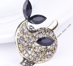 4.5x4.4cm Fancy Dark Dolphin Jewelry Beauty Crystal Rhinestone Pin Brooch #eozy