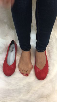 Stylish shoes for bunions. Specially designed to conceal and comfort bunions. Charlotte red flats - more colours available. Handcrafted in Portugal Wide Shoes, Low Heel Shoes, Flat Shoes, Strappy High Heels, Suede Heels, Buy Shoes, Me Too Shoes, Bunion Shoes, Red Bottom Heels