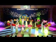 Taniec zaprezentowany przez uczniów szkoły podstawowej w czasie uroczystej akademii z okazji Święta Konstytucji 3 Maja Beach Wedding Photos, Dance Choreography Videos, Hula, Kindergarten, Grimm, Activities, Concert, Youtube, Kids