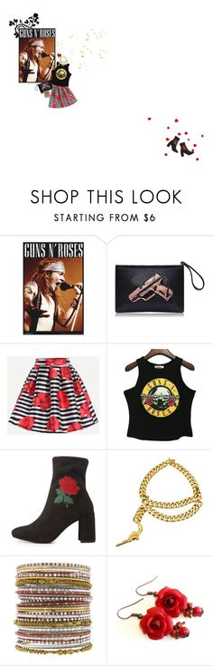 """GUNS N' ROSES"" by tiffyg2133 ❤ liked on Polyvore featuring Delicious, Chanel, NEXTE Jewelry, music, rock, roses, gunsandroses and axelrose"