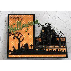 Kohlenstoffstahl-Ausschnitt-Schablone Scrapbooking-Präge-Karte die Halloween
