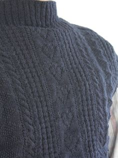 Hand knitting a Bridlidlington Gansey Fishermans sweater