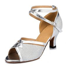 Doris Fashion HW0031 Womens Tango Ballroom Latin Dance Shoes Wedding Shoes Evening Shoes Silver 10 M US ** You can find more details by visiting the image link.