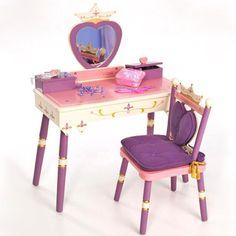 Levels of Discovery Royal Princess Girls Vanity Set - Kids Bedroom Vanities at Hayneedle