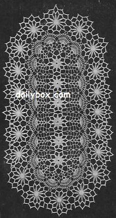 Free Vintage Crochet Painted Daisy Doily Pattern