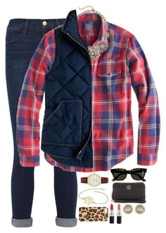 Crew, kate spade, tory burch, kendra scott, mac cosmetics and naturallybe Outfits Con Camisa, Vest Outfits, Preppy Outfits, Preppy Style, Cute Outfits, Fashion Outfits, My Style, Womens Fashion, Fall Winter Outfits