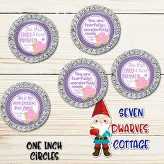 Purple with Pink Roses Christian Bible Saying One Inch Circle Bottle Cap