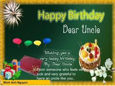 28 Images happy birthday wishes quotes for uncle - Really Good Life Quotes Uncle Birthday Quotes, Birthday Wishes For Uncle, Happy Birthday Wishes Quotes, Birthday Quotes For Daughter, Birthday Card Sayings, Birthday Cards For Mom, Happy Birthday Dear, Husband Birthday, Best Birthday Gifts