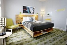 Good Hotel in San Francisco, artfully filled with sustainable, reclaimed and recycled design and furnishings.