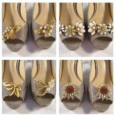 Wedding Shoes Shoe Decor Vintage Jewelry by JenniferJonesJewelry
