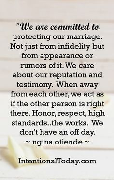 Never give yourself a marriage off-day. Be all in, all the time, 100%. Here are 8 more ways to nurture your marriage