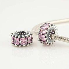 Dusty Pink czs bracelet bead