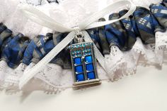Doctor Who Wedding Garter on Etsy, $20.00