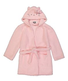 Love this Pink Hello Kitty Sherpa Hooded Robe on #zulily! #zulilyfinds