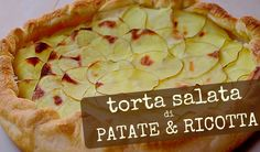 TORTA SALATA DI PATATE E RICOTTA RICETTA FACILE – Potato and Ricotta Cheese Pie Easy Recipe