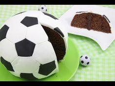 ▶ Fußball-WM 2014 Fußball-Kuchen/ Fußball-Torte/ Soccer Cake/ Football Cake (Orangen-Schoko-Kuchen) - YouTube