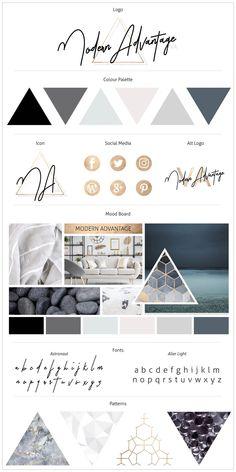 Brand Board - Moderne Kollektion - - - Trend Home Design Ideen 2019 Layout Design, Design De Configuration, Site Web Design, Brand Design, Design Design, Portfolio Design, Fashion Portfolio, Portfolio Logo, Portfolio Ideas