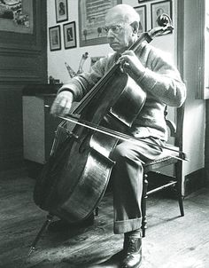 Pablo Casals in Paris in 1958