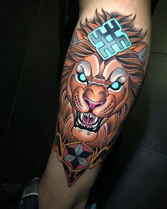 Tattoo artist Johnny Domus Mesquita colorfull neo traditional tattoo | Viseu, Portugal