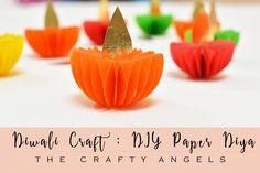 Diwali Craft - Paper Diya Tutorial - The Crafty Angels
