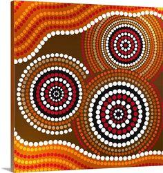 K Aboriginal Circle/Dot Art - Lessons - Tes Teach Aboriginal Patterns, Aboriginal Symbols, Aboriginal Dot Painting, Dot Art Painting, Mandala Painting, Mandala Art, Aboriginal Art For Kids, Aboriginal Tattoo, Aboriginal Dreamtime
