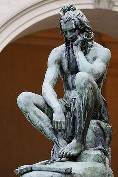 Francisque Joseph Duret (1804–1865) Chactas Meditating on Atala's Tomb 1836 Bronze. More Libido inspiration: www.goachi.com