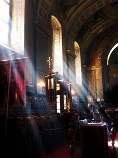 Inside an Christian Orthodox Church