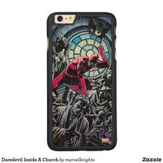 Daredevil Inside A Church OtterBox iPhone Case. While supplies last, grab these cool classic Daredevil merchandise. Perfect comic book hero gift ideas for birthdays. 6s Plus Case, Iphone 6 Plus Case, Iphone 8, Comic Book Heroes, Comic Books, Daredevil, Children, Kids, Birthdays
