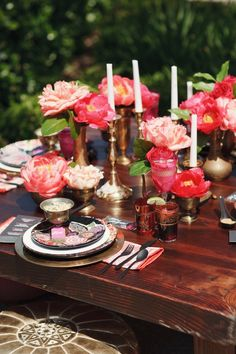 Bright Moroccan table setting