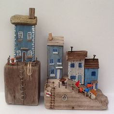 #driftwood #sculpture #seaside #sea #upcycle #recycle  couple of little scenes completely finished and ready to go!