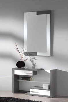 modern and contemporary drawers with a dtylish mirror
