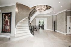 Schreinerei Daxenberger, Treppe, Eisen, black, Villa Luxury Staircase, House Staircase, Staircase Design, Staircases, Luxury Homes Interior, Home Interior Design, Interior Ideas, Arden Homes, Modern Stairs