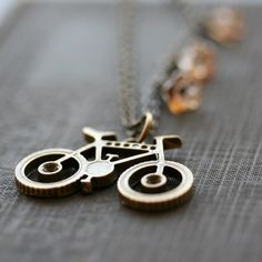 Bicycle Necklace, Whimsical Jewelry -  BIKE