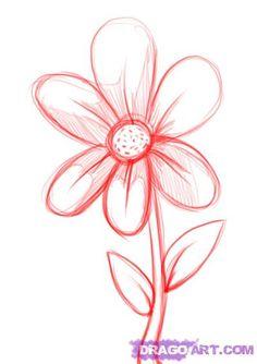 simple drawings of flowers - Google Search