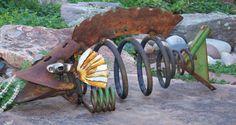recycled metal fish | ... | 365 days of making art bugs fish and scrap metal art