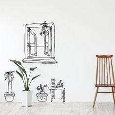 Room Decor, Wall Decor, Wall Drawing, Ceramic Houses, Mural Wall Art, Geometric Wall, Diy Interior, Wall Art Designs, Decoration